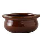 Tuxton BAS-1003 10 oz Onion Soup Crock - Ceramic, Caramel
