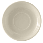 "Tuxton BEE-066 6.75"" Round Cappuccino Saucer - Ceramic, American White"