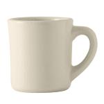 Tuxton BEM-0802 12 oz Old Time Mug - Ceramic, American White