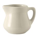 Tuxton BER-035 3.5 oz Creamer w/ Handle - Ceramic, American White