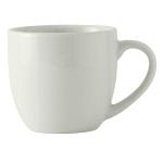 Tuxton BPM-120A 12 oz Milano Mug - Ceramic, Porcelain White