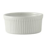 Tuxton BPX-1002 10 oz Round Souffle Dish - Ceramic, Porcelain White