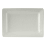 "Tuxton BWH-0803 Rectangular Plate - 8"" x 5.5"", Ceramic, White"