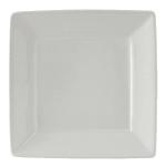 "Tuxton BWH-0845 8.5"" Square Plate - Ceramic, White"