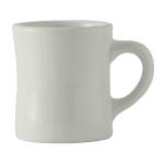 Tuxton BWM-090B 9 oz Diner Mug - Ceramic, White