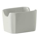 "Tuxton BWQ-034 Sugar Packet Holder - 3.5"" x 2.87"" x 2.38"", Ceramic, White"