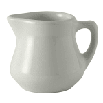 Tuxton BWR-035 3.5 oz Creamer w/ Handle - Ceramic, American White