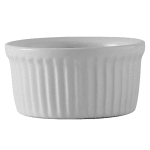 Tuxton BWX-0452 4.5 oz Fluted Ramekin - Ceramic, White