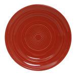 "Tuxton CQA-090 9"" Round Concentrix Plate - Ceramic, Cayenne"