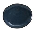 "Tuxton GAN-023 Oval Ceramic Platter - 11x13-1/4"" Night Sky"