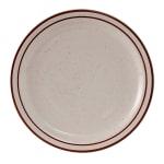 "Tuxton TBS-006 6.5"" Round Bahamas Plate - Ceramic, American White"