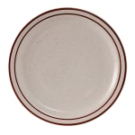 "Tuxton TBS-007 7.25"" Round Bahamas Plate - Ceramic, American White"