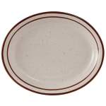 "Tuxton TBS-013 Oval Bahamas Platter - 11.5"" x 9.13"", Ceramic, American White"
