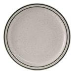 "Tuxton TES-007 7.25"" Round Emerald Plate - Ceramic, American White"