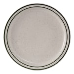 "Tuxton TES-009 9.5"" Round Emerald Plate - Ceramic, American White"