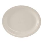 "Tuxton TNR-014 Oval Nevada Platter - 13.25"" x 10.5"", Ceramic, American White"