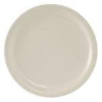 "Tuxton TNR-016 10.5"" Round Nevada Plate - Ceramic, American White"