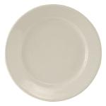 "Tuxton TRE-007 7.13"" Round Reno Plate - Ceramic, American White"