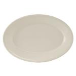 "Tuxton TRE-013 Oval Reno Platter - 11.63"" x 8"", Ceramic, American White"