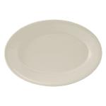 "Tuxton TRE-039 Oval Reno Platter - 13.5"" x 9"", Ceramic, American White"