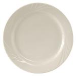 "Tuxton YEA-062 6.25"" Round Monterey Plate - Ceramic, American White"
