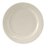 "Tuxton YEA-072 7.25"" Round Monterey Plate - Ceramic, American White"