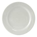 """Tuxton YPA-102 10.25"""" Round Sonoma Plate - Ceramic, Porcelain White"""