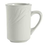 Tuxton YPM-080 7.5 oz Sonoma Mug - Ceramic, Porcelain White