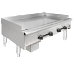 "Wells HDG-4830G 47"" Gas Griddle - Manual, 3/4"" Steel Plate, NG"
