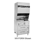 Wells WV-FG Electric Fryer with Griddle - (1) 15 lb. Vat Floor Model, 208v/3ph