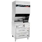 Wells WV-FGRW Electric Fryer w/ Griddle - (1) 15-lb. Vat Floor Model, 208v/3ph