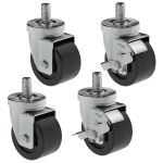 """Hoshizaki HS-5035 4"""" Casters for (1) & (2) Section Commercial Series Undercounter Refrigerators"""