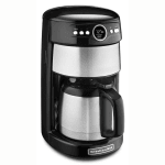 KitchenAid KCM1203OB 12-cup Coffee Maker w/Glass Carafe, Programmable, Onyx Black