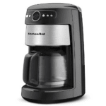 KitchenAid KCM222OB 14-Cup Programmable Coffee Maker w/ Filter, Onyx Black