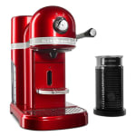 KitchenAid KES0504CA0 Nespresso® 1.3L Espresso Coffee Maker w/ Milk Frother, Red