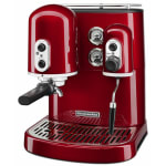 KitchenAid KES2102CA Pro Line Series 7.5 cup Espresso Coffee Maker w/ Milk Frother, Red