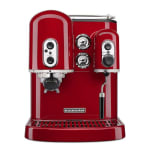 KitchenAid KES2102ER Pro Line Series 7.5 cup Espresso Coffee Maker w/ Milk Frother, Red