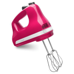 KitchenAid KHM512CB 5-Speed Hand Mixer w/ 2-Stainless Turbo Beater Accessories, Cranberry