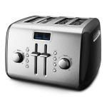 KitchenAid KMT422OB 4-Slice Manual Lever Toaster - Onyx Black