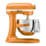 KitchenAid KP26M1XTG 10 Speed Stand Mixer w/ 6 qt Stainless Bowl & Accessories, Tangerine