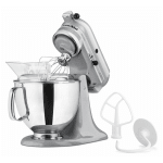 KitchenAid KSM150PSMC 10 Speed Stand Mixer w/ 5 qt Stainless Bowl & Accessories, Metallic Chrome