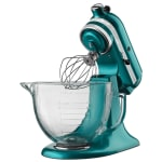 KitchenAid KSM155GBSA 10 Speed Stand Mixer w/ 5 qt Glass Bowl & Accessories, Sea Glass