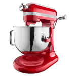 KitchenAid KSM7586PCA 10 Speed Stand Mixer w/ 7 qt Stainless Bowl & Accessories, Candy Apple Red
