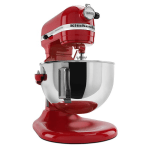 KitchenAid KV25GOXER Professional 5 Plus Series 5 Quart Stand Mixer, Empire Red