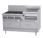 "Garland GFE60-6R24RR 60"" 6 Burner Gas Range with Griddle & Broiler, LP"