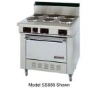 "Garland S686 36"" 6-Coiled Element Electric Range, 208v/1ph"