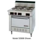 "Garland S686 36"" 6 Coiled Element Electric Range, 240v/3ph"