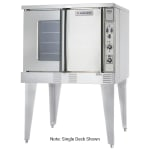 Garland SUMG-GS-20ESS Summit Double Full Size Natural Gas Convection Oven - 106,000 BTU