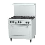 "Garland X36-6R 36"" SunFire 6-Burner Gas Range, NG"