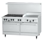 "Garland X60-6G24RR 60"" SunFire 6 Burner Gas Range with Griddle, NG"